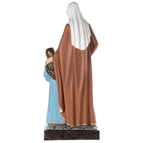 S. Anna con Maria bambina cm 150 vetroresina dipinta occhi vetro entrambi 7