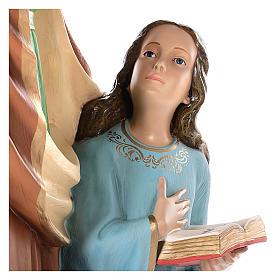 Imagem Santa Ana com Nossa Senhora menina 150 cm fibra de vidro pintada com olhos de vidro