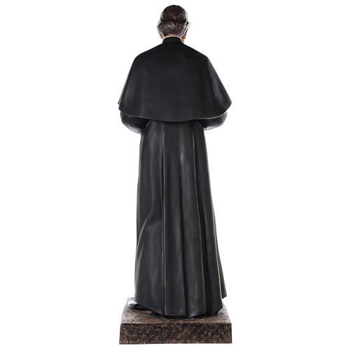 S. Giovanni Bosco 170 cm vetroresina dipinta occhi vetro 8