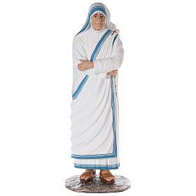 Santa Teresa de Calcuta cm 150 fibra de vidrio pintada ojos vidrio s1