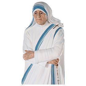 Santa Teresa de Calcuta cm 150 fibra de vidrio pintada ojos vidrio s2