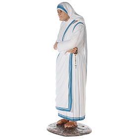 Santa Teresa de Calcuta cm 150 fibra de vidrio pintada ojos vidrio s3