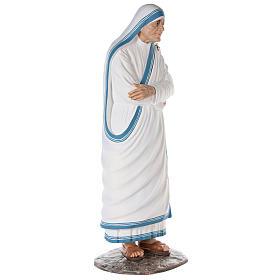 Santa Teresa de Calcuta cm 150 fibra de vidrio pintada ojos vidrio s5