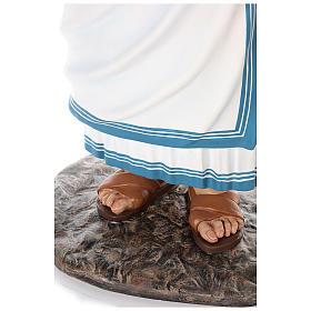 Santa Teresa de Calcuta cm 150 fibra de vidrio pintada ojos vidrio s7