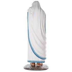 Santa Teresa de Calcuta cm 150 fibra de vidrio pintada ojos vidrio s8