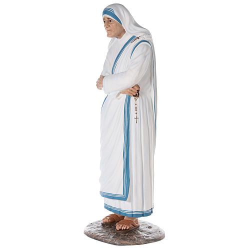 Santa Teresa de Calcuta cm 150 fibra de vidrio pintada ojos vidrio 3