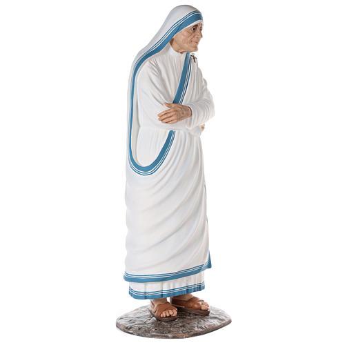 Santa Teresa de Calcuta cm 150 fibra de vidrio pintada ojos vidrio 5
