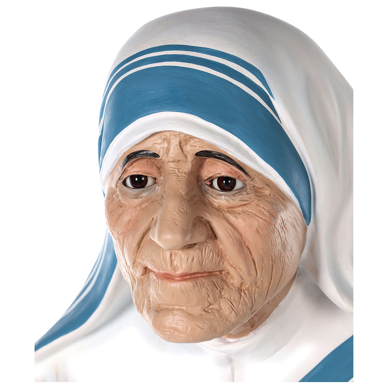 Santa Teresa di Calcutta cm 150 vetroresina dipinta occhi vetro 4
