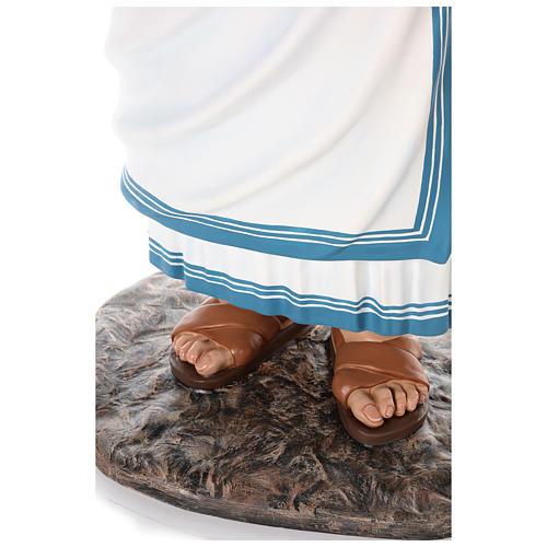 Santa Teresa di Calcutta cm 150 vetroresina dipinta occhi vetro 7