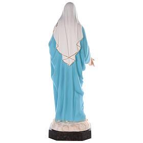 Sacro Cuore di Maria vetroresina colorata 110 cm occhi in vetro s7