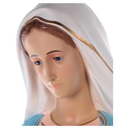 Sacro Cuore di Maria vetroresina colorata 110 cm occhi in vetro 4