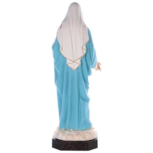 Sacro Cuore di Maria vetroresina colorata 110 cm occhi in vetro 7