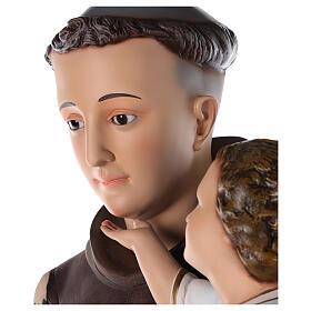 San Antonio estatua fibra de vidrio coloreada 130 cm ojos vidrio s6