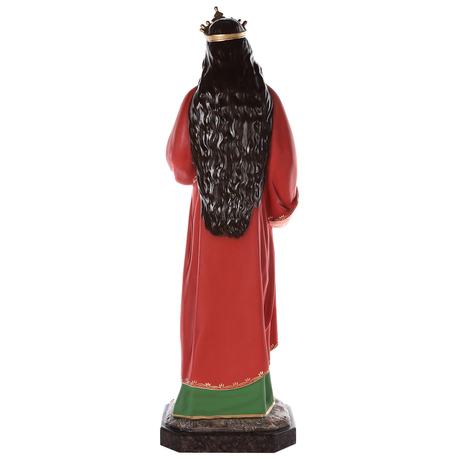 Santa Lucía estatua fibra de vidrio coloreada 160 cm ojos vidrio 4