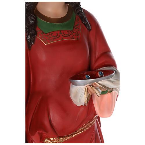 Santa Lucía estatua fibra de vidrio coloreada 160 cm ojos vidrio 2