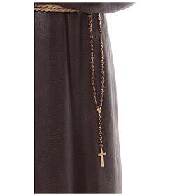 Saint Padre Pio fibre de verre colorée 110 cm yeux verre s6