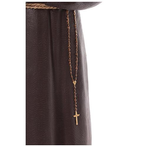 Saint Padre Pio fibre de verre colorée 110 cm yeux verre 6