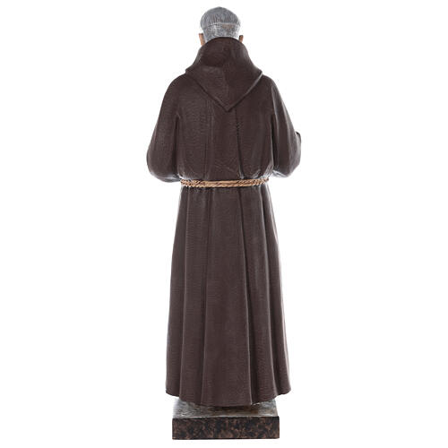 San Padre Pio vetroresina colorata 110 cm occhi vetro 9