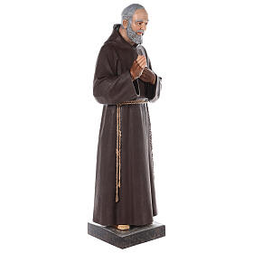 Padre Pio statue 110 cm, in colored fiberglass with glass eyes s7