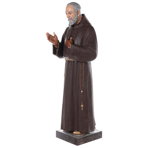 Padre Pio statue 110 cm, in colored fiberglass with glass eyes 5