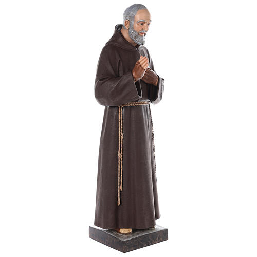 Padre Pio statue 110 cm, in colored fiberglass with glass eyes 7