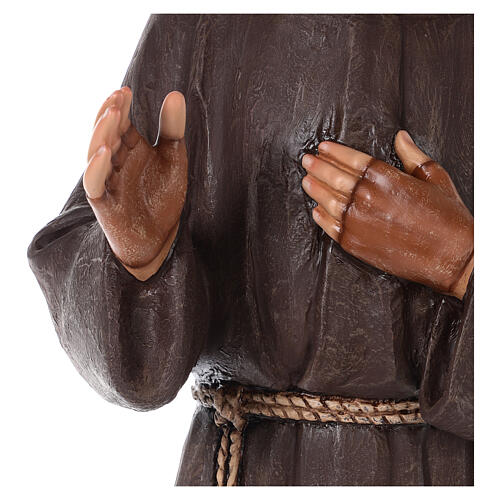Statua San Padre Pio vetroresina colorata 82 cm occhi vetro 5