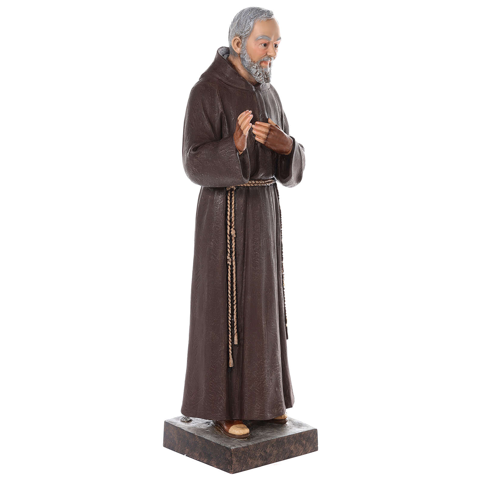Padre Pio fiberglass statue with glass eyes, 82 cm 4