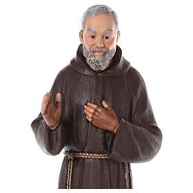 Padre Pio fiberglass statue with glass eyes, 82 cm s2