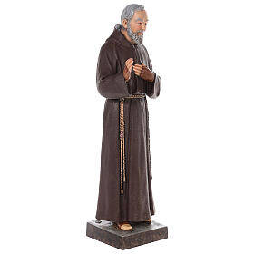 Padre Pio fiberglass statue with glass eyes, 82 cm s6
