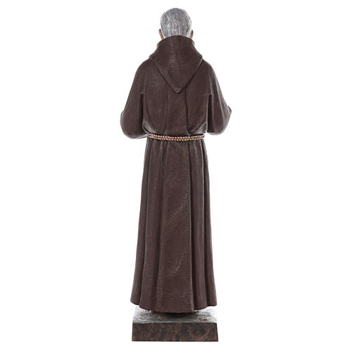 Padre Pio fiberglass statue with glass eyes, 82 cm 8
