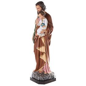 Statua San Giuseppe vetroresina colorata 130 cm occhi vetro s5