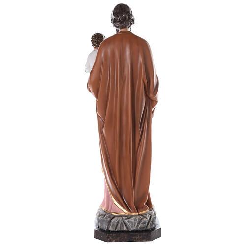 Statua San Giuseppe vetroresina colorata 130 cm occhi vetro 9
