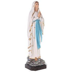 Virgen de Lourdes fibra de vidrio coloreada 110 cm ojos vidrio s3