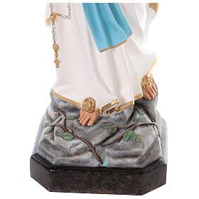 Notre-Dame de Lourdes fibre de verre colorée 110 cm yeux verre s6