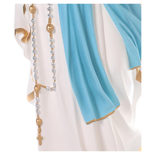 Notre-Dame de Lourdes fibre de verre colorée 110 cm yeux verre 4