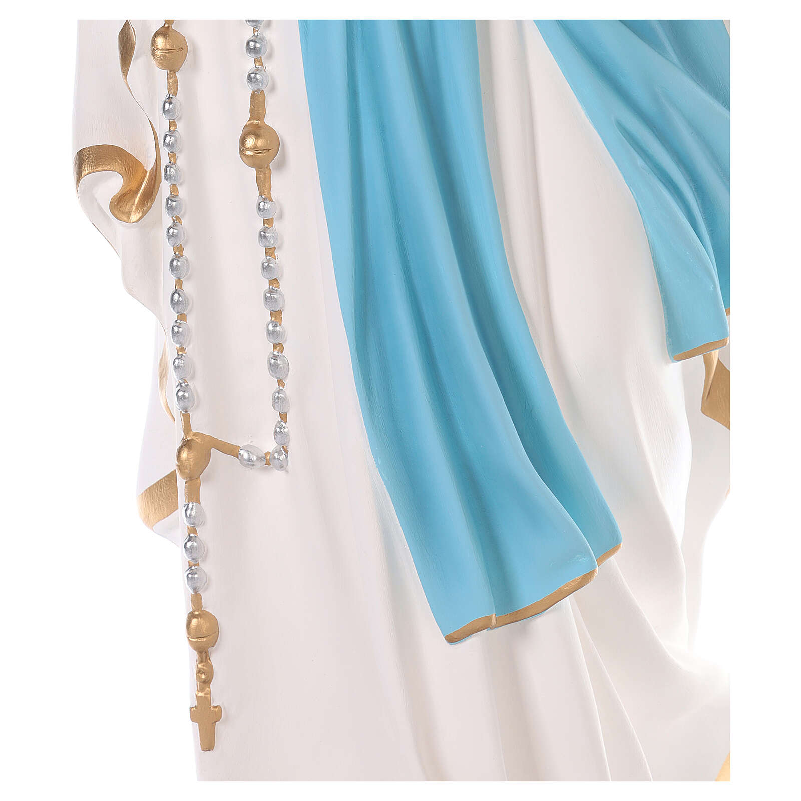 Our Lady of Lourdes statue 110 cm, in colored fiberglass with glass eyes 4