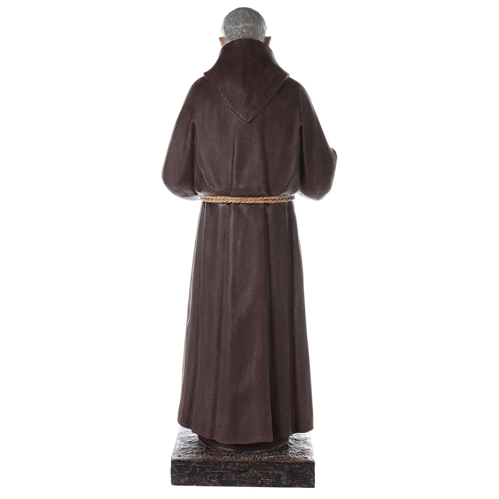Saint Pio statue fibre de verre colorée 180 cm yeux verre 4