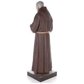 Saint Pio statue fibre de verre colorée 180 cm yeux verre s3