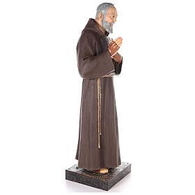 Saint Pio statue fibre de verre colorée 180 cm yeux verre s4