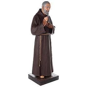 Saint Pio statue fibre de verre colorée 180 cm yeux verre s9