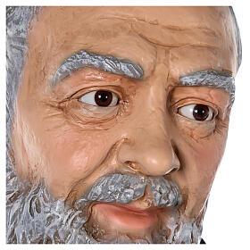 Saint Pio statue fibre de verre colorée 180 cm yeux verre s10