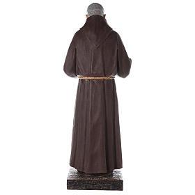 Saint Pio statue fibre de verre colorée 180 cm yeux verre s11