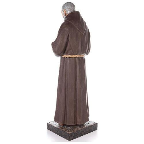 Saint Pio statue fibre de verre colorée 180 cm yeux verre 3
