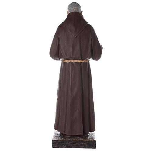 Saint Pio statue fibre de verre colorée 180 cm yeux verre 11
