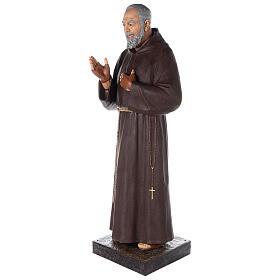 San Pio statua vetroresina colorata 180 cm occhi vetro s7