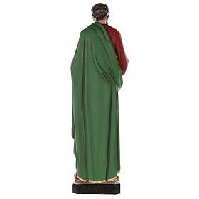 Estatua San Pablo fibra de vidrio coloreada 80 cm ojos vidrio s8