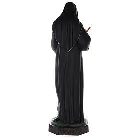 Estatua Santa Rita fibra de vidrio coloreada 100 cm ojos vidrio s8