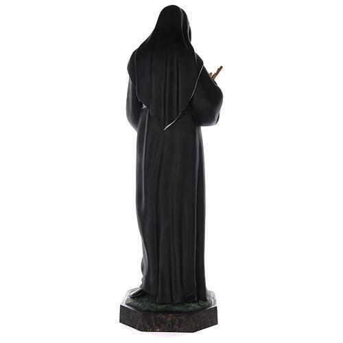 Estatua Santa Rita fibra de vidrio coloreada 100 cm ojos vidrio 8