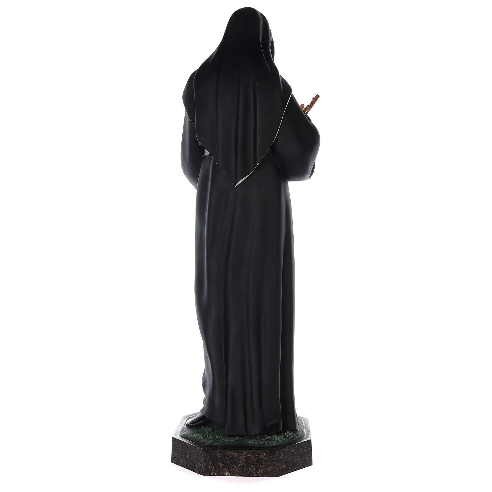Statua Santa Rita vetroresina colorata 100 cm occhi vetro 4