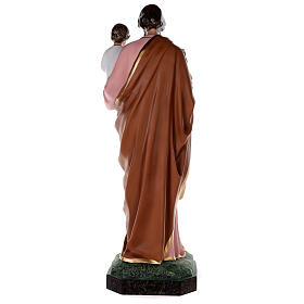 Statue of St Joseph in colored fiberglass, 100 cm crystal eyes s10